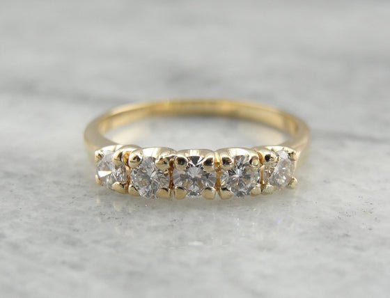 Timeless and Classic Diamond Wedding Band
