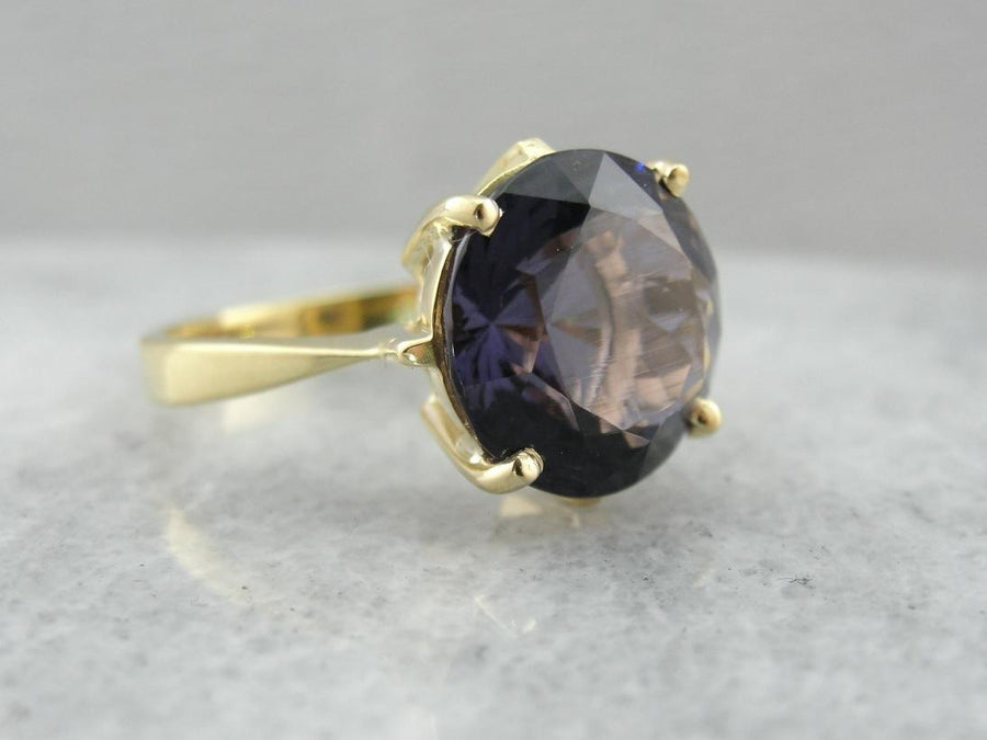 The Most Rare: Purple Scapolite Gemstone, Simple Cocktail Ring