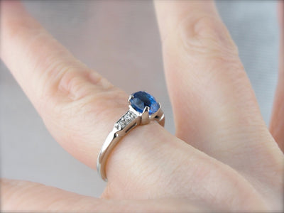 Fine Sapphire Engagement Ring with Diamond Accents