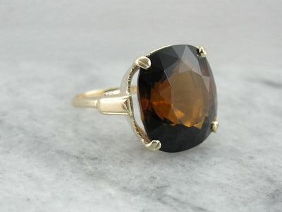 Earthy and Rich Dravite Tourmaline Cocktail Ring