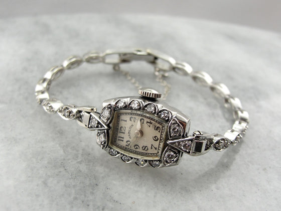 Stunning Diamond 1950's Hamilton Wrist Watch