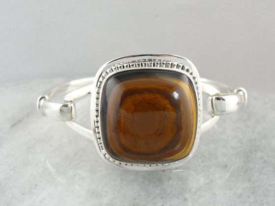 Tiger's Eye Gemstone Bracelet in Sterling Silver