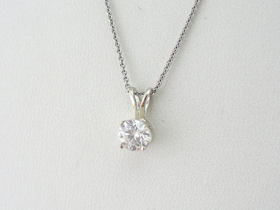 Single Diamond Drop Pendant