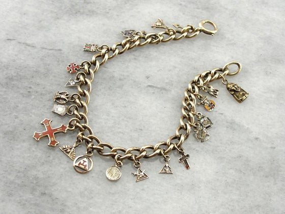 Unique Masonic Themed Charm Bracelet