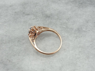 The Sybil Ring in Rose Gold and Sapphire from The Elizabeth Henry Collection