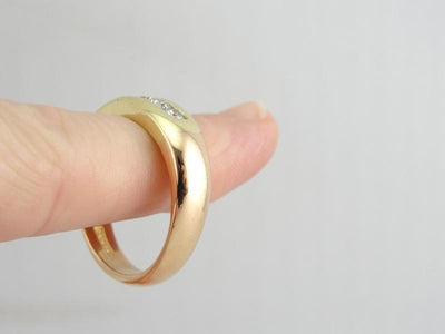 Vintage 18K Yellow and Rose Gold Band