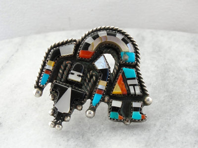 Fantastic Native American Knifewing Dancer Ring