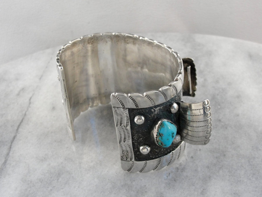 Native American Turquoise Cuff Watch Band