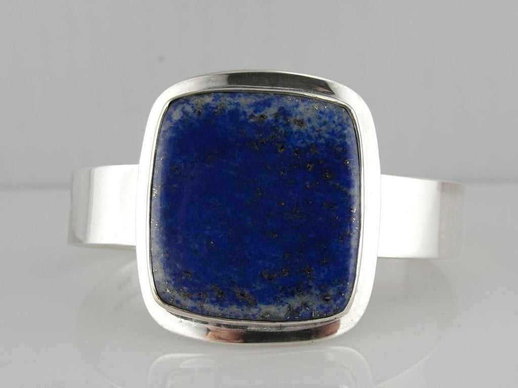 Bold and Blue Lapis Cuff Bracelet from Mexico