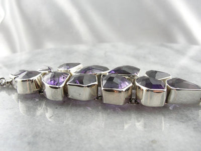 Rock Candy, Fabulous and Fun Amethyst Bracelet