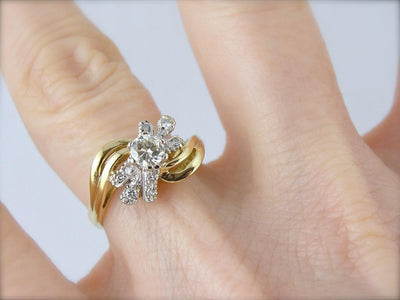 Diamond Studded and Versatile Cocktail Ring