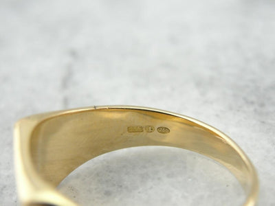 Monogramed RN, Floral Etched Signet Ring