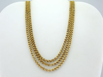 Victorian Revival Three Strand Necklace