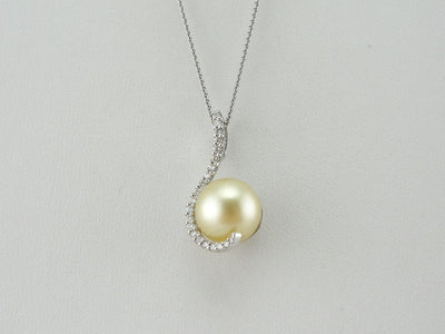 The Octopus's Garden: Diamond and Pearl Pendant