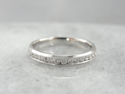 Vintage Channel Set Diamond Wedding Band