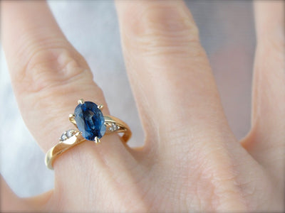 Sapphire Engagement Ring with Diamond Accents