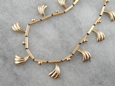 Modernist and Ancient: Tribal Style  Link Necklace with Decorative Charms