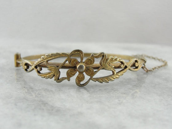 Antique Gilt Silver Child's Bracelet, Baby Girl Gift from Sri Lanka