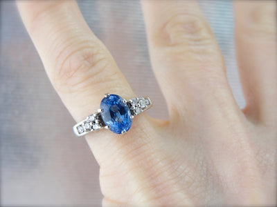 Stunning Sapphire and Diamond Engagement Ring