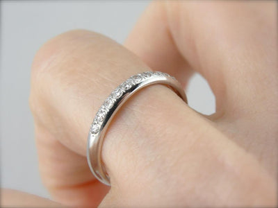Classic Diamond Wedding Band in White Gold