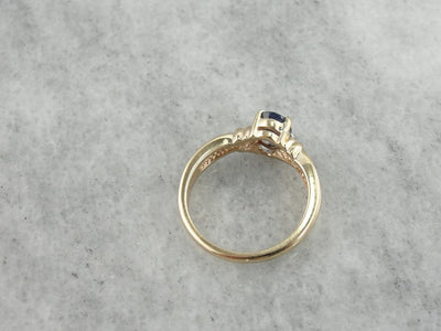 Pretty Blue Thai Sapphire Solitaire for Engagement or Any Occasion