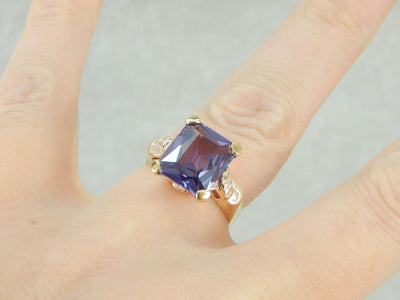 The Prized Synthetic Alexandrite Cocktail Ring
