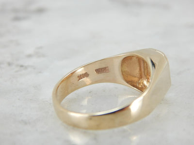 Unisex Signet Ring in Polished Yellow Gold