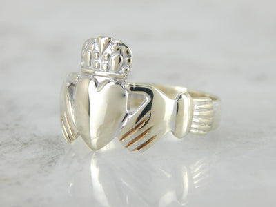 An Irish Wedding Band in White Gold