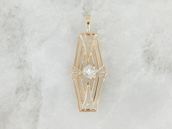 The Art Deco Spider - Geometric Filigree and Diamond Pendant