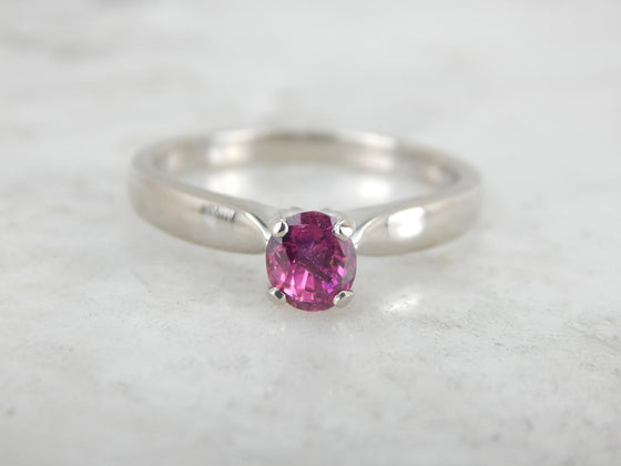 Fuschia & Rose: Pink Sapphire Engagement Ring