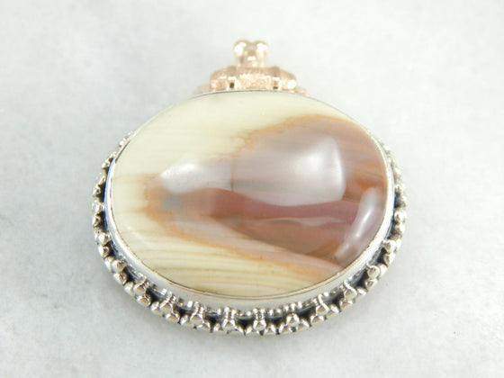 Coffee and Cream Jasper Pendant