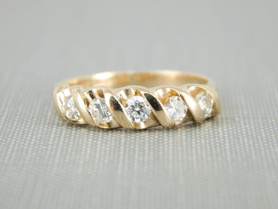 Mid-Century Five Diamond Band