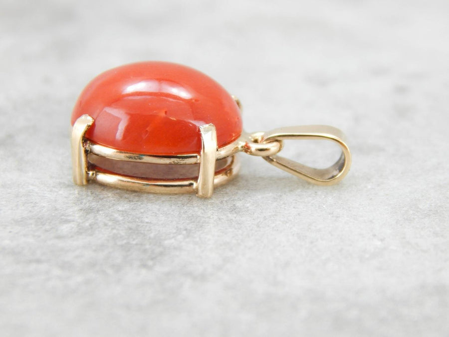 Simple Coral Pendant with Bold Color