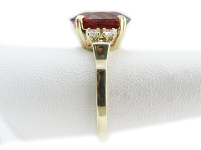 The Sadie Pink Tourmaline and Diamond Cocktail Ring by Elizabeth Henry