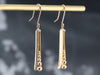 Modernist Gold Drop Earrings