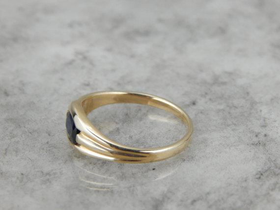 Ladies Ring with Sapphire, Alternative Wedding Band