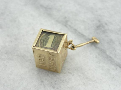 Fun Mad Money and Hammer Gold Charm or Pendant