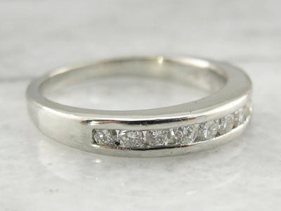Luxurious and Weighty: Platinum and Diamond Wedding Band