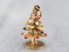 Vintage Enameled Christmas Tree Charm