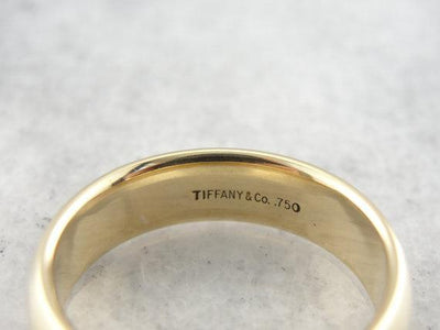 Vintage 18K Yellow Gold Wedding Band