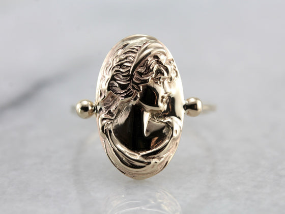 Vintage Yellow Gold Cameo Ring