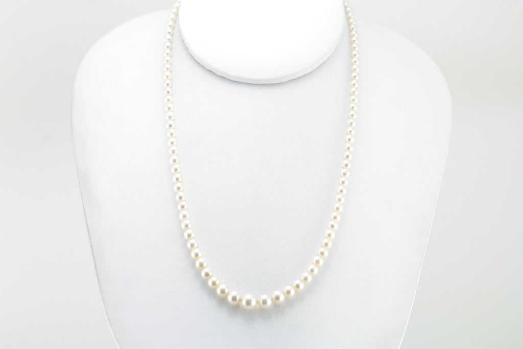 The Classic Tradition: 1950's Graduated Cultured Pearl Necklace is the Perfect Gift