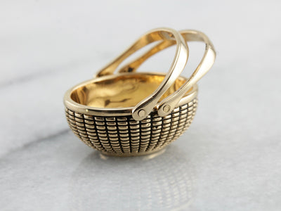 Beautiful Glenaan 14K Gold Nantucket Basket