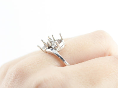 The Jolie Four Prong Semi-Mount Bypass Ring by Elizabeth Henry