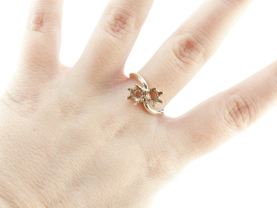 The Adele Six Prong Bypass Semi-Mount Ring by Elizabeth Henry