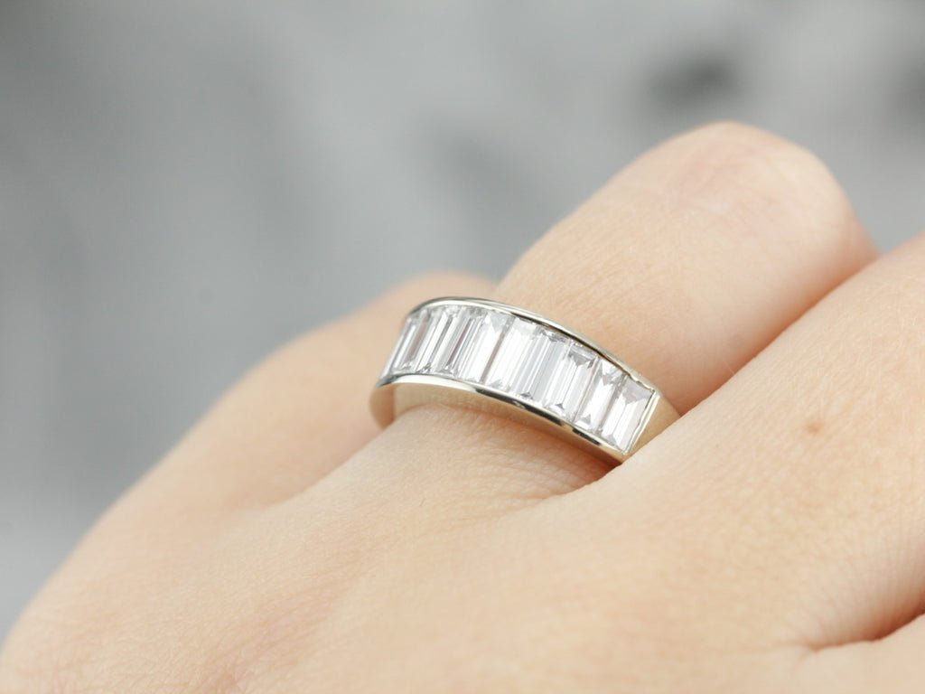 Magnificent Baguette Diamond Band in White Gold