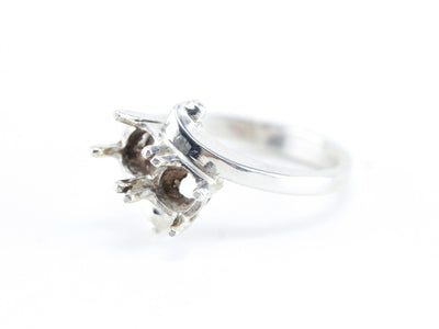 The Bella Four Prong Semi-Mount Bypass Ring by Elizabeth Henry