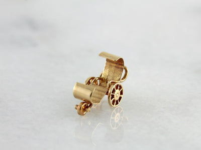 Antique Wheelchair Gold Charm