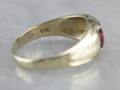 Art Nouveau Era Pink Spinel Men's Statement Band