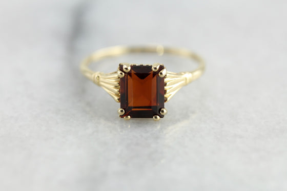 Brandy Citrine Cocktail Ring in The Hannah Setting by Market Square Jewelers